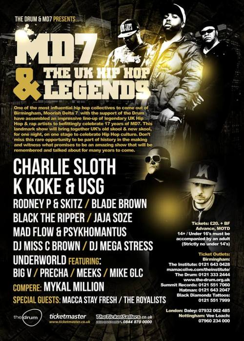 MD7 & UK HIPHOP LEGENDS 500